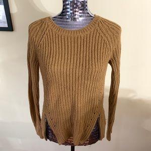 Brown Zipper Detail Sweater
